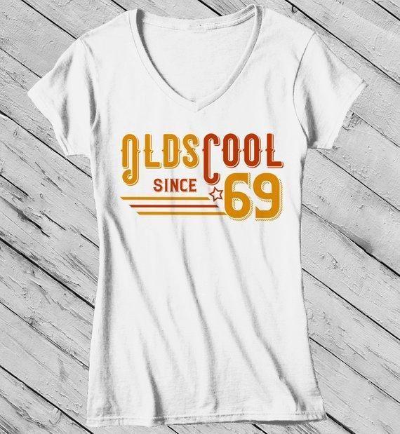 Women's Vintage T Shirt 1969 Birthday Shirt Olds Cool 50th Birthday Tee Retro Gift Idea Vintage Tee Oldscool Shirts 3