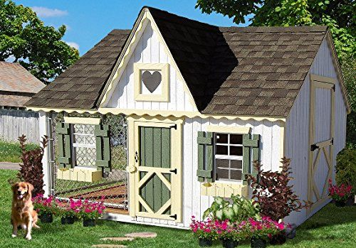 2X3 Wood Wall Framing   2X4 Wood Trusses  4X8 Enclosed Area 6X8 Kennel Area For Dog To Roam  High Quality Siding and Trim Pre Fastened Onto Wall Panels (Insures Panels are Square)  Panelized Wall Sec...