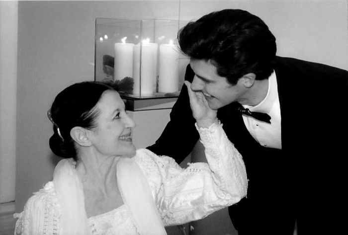 Carla Fracci and Roberto Bolle at the Eni dinner