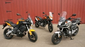 Honda NC700X vs. Kawasaki Versys vs. Suzuki V-Strom 650 ABS - these motorcycles were compared in the November 2012 issue of Rider magazine.