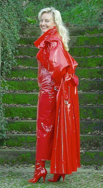 Red PVC Raincoat
