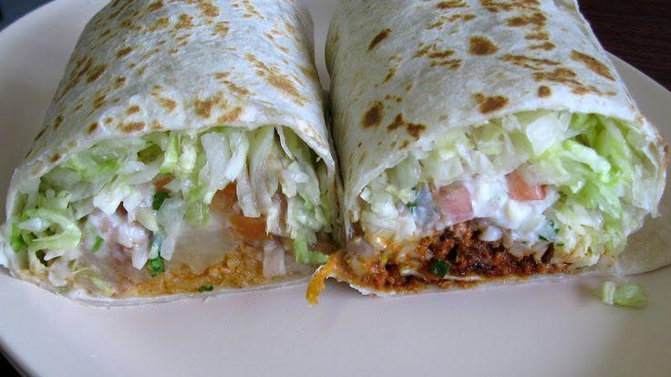Burrito Vegetariano and chorizo burrito at El Rey Burritos.