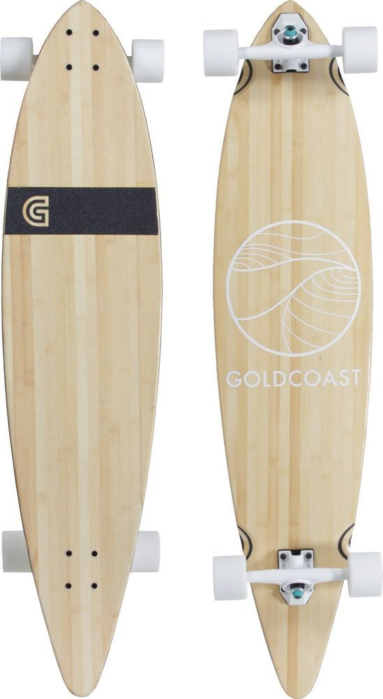 Goldcoast Longobards CLASSIC BAMBOO PINTAIL LONGBOARD (complete)