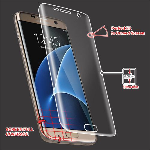 MYBAT Screen Protector for Samsung Galaxy S7 Edge - Curved Coverage