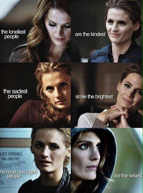 I would like to propose a moment of silence out of respect for all of the mental and emotional problems that Kate Beckett has dealt with and continue to deal with without giving up or giving in and always continuing to do the best she possibly can.