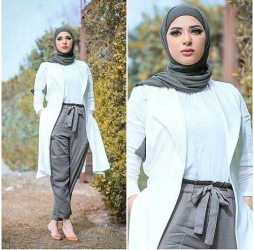 Pants with bow hijab - Flowy and cute hijab outfits – Just Trendy Girls