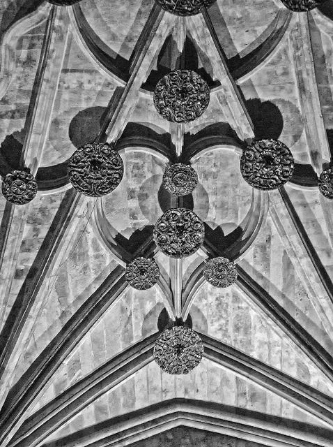 Salamanca Cathedral ceiling heart detail #CastillayLeon #Spain