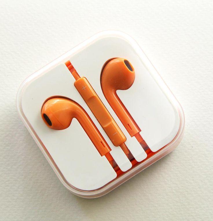 Hands free earpods - Πορτοκαλί (iPhone, Samsung, HTC etc) - myThiki.gr - Αξεσουάρ Smartphones & Tablets - Χρώμα πορτοκαλί