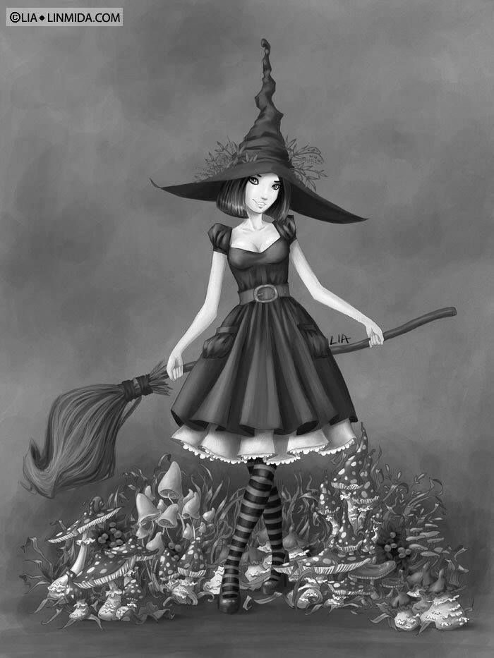 witch ingrid by liaselina on deviantart halloween mais - Halloween Witchcraft