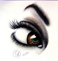 Zodiac eyes - Taurus by Schoerie