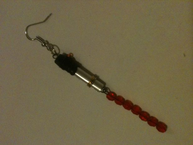 Awesome DIY for light saber earrings!