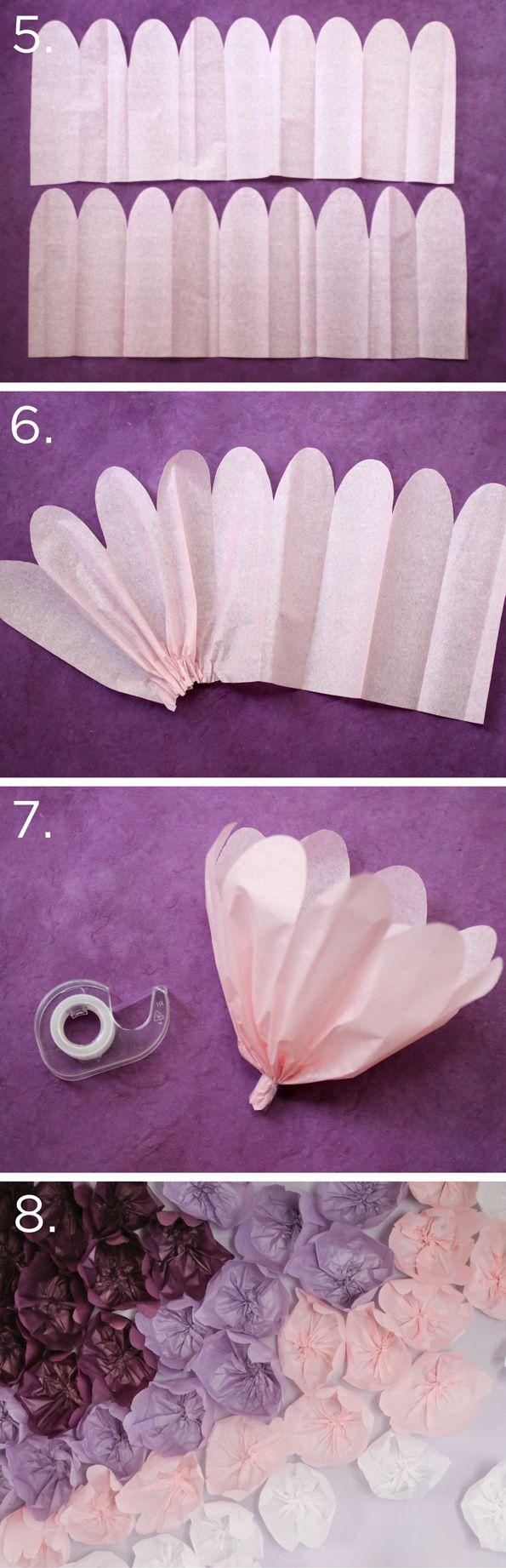 DIY Tissue Flower Backdrop