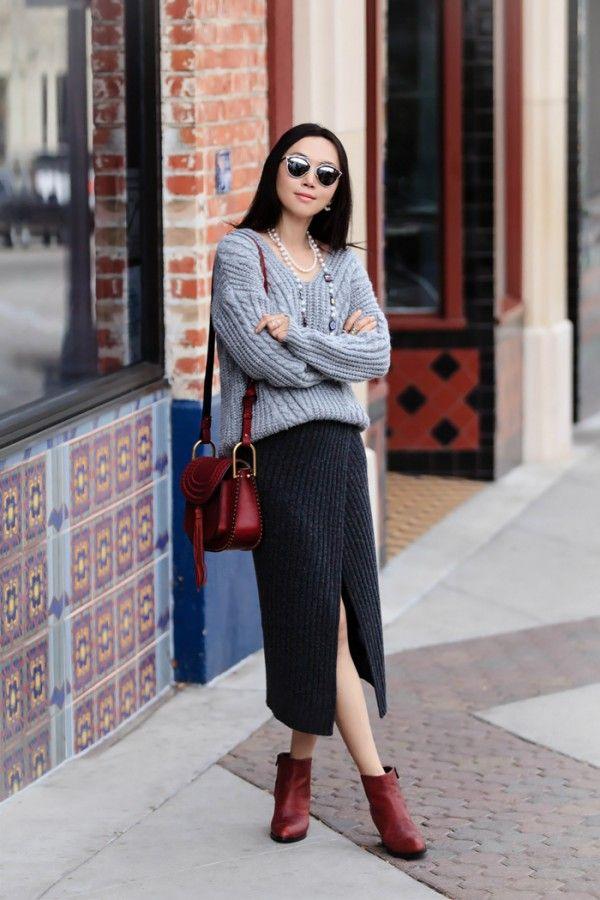 Тенденция: вязаная или трикотажная юбка 6