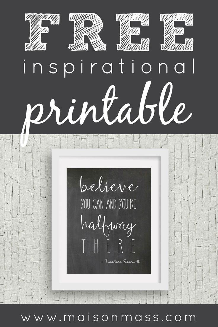 Free digital print, inspirational print, inspirational quote, quote, digital print, wall art, wall decor, printable