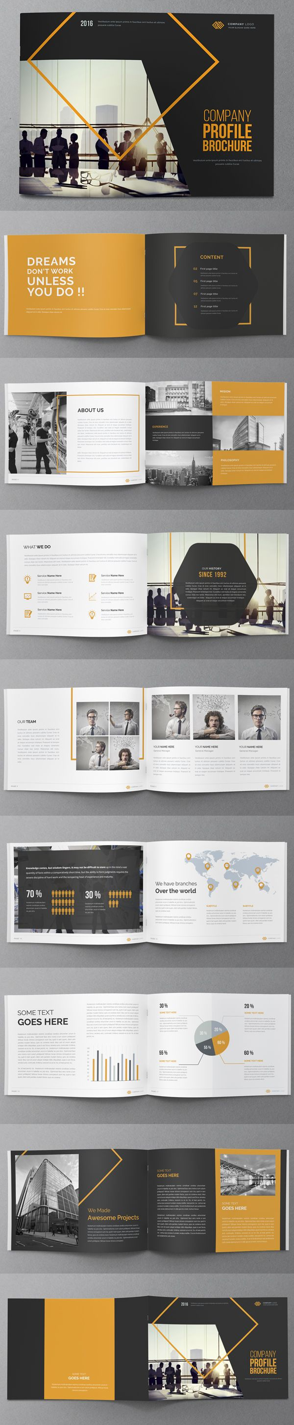 Creative Annual Report Brochure Design                                                                                                                                                      More