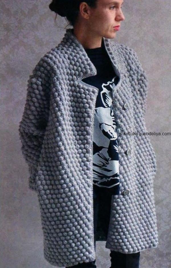 вязание крючком пальто короткое для женщин схема описание узор