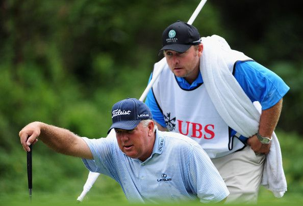 mark o'meara | Mark O'Meara Mark O Meara of USA and caddie line up a putt on the ...