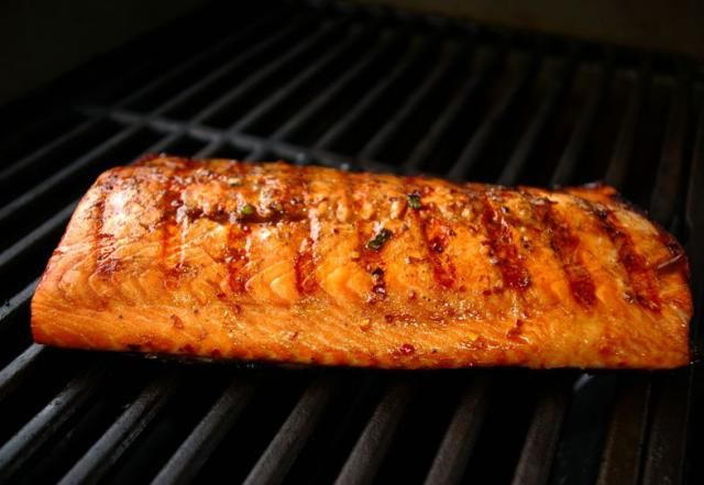 This salmon is marinated in an Asian-style mixture with just enough spice and heat to give it a little kick.