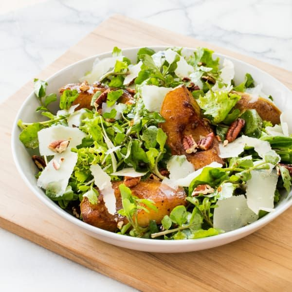Could we find a way to make lackluster pears shine in a holiday salad?