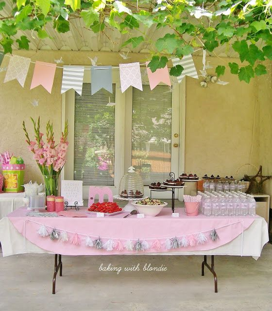 Baking with Blondie : Pink, Grey & White Baby Girl Shower
