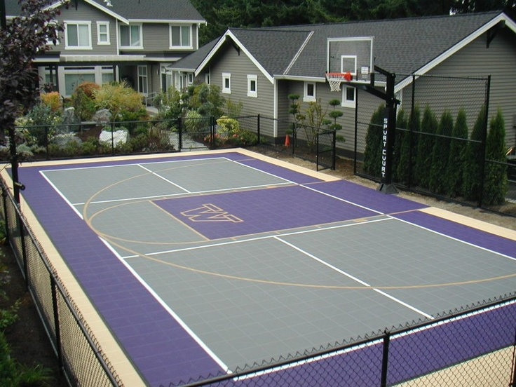 1000 ideas about backyard basketball court on pinterest for Outdoor basketball court cost estimate
