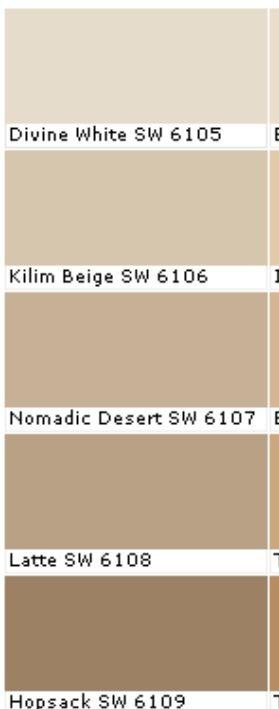 Kilim beige, Latte and Cabinet colors on Pinterest