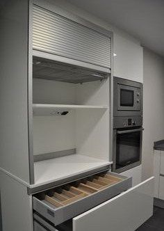 Diseño de cocinas con mueble persiana