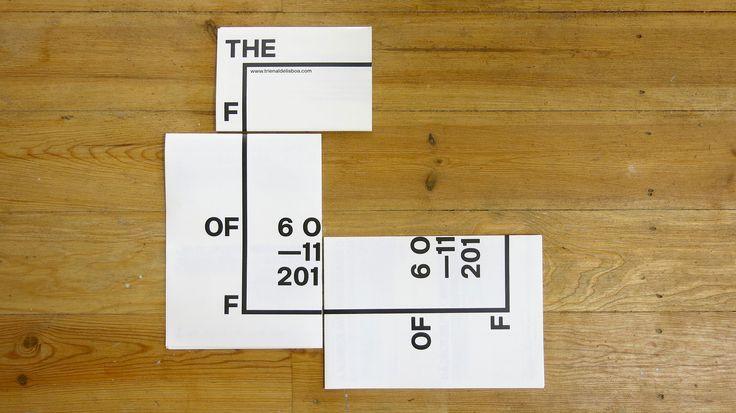 """The Form of Form depliant """"Save-the-Date"""", design by R2   Trienal de Arquitectura de Lisboa"""