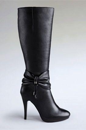 Elegant Bow-tie Stiletto High Heel Women Formal Boots