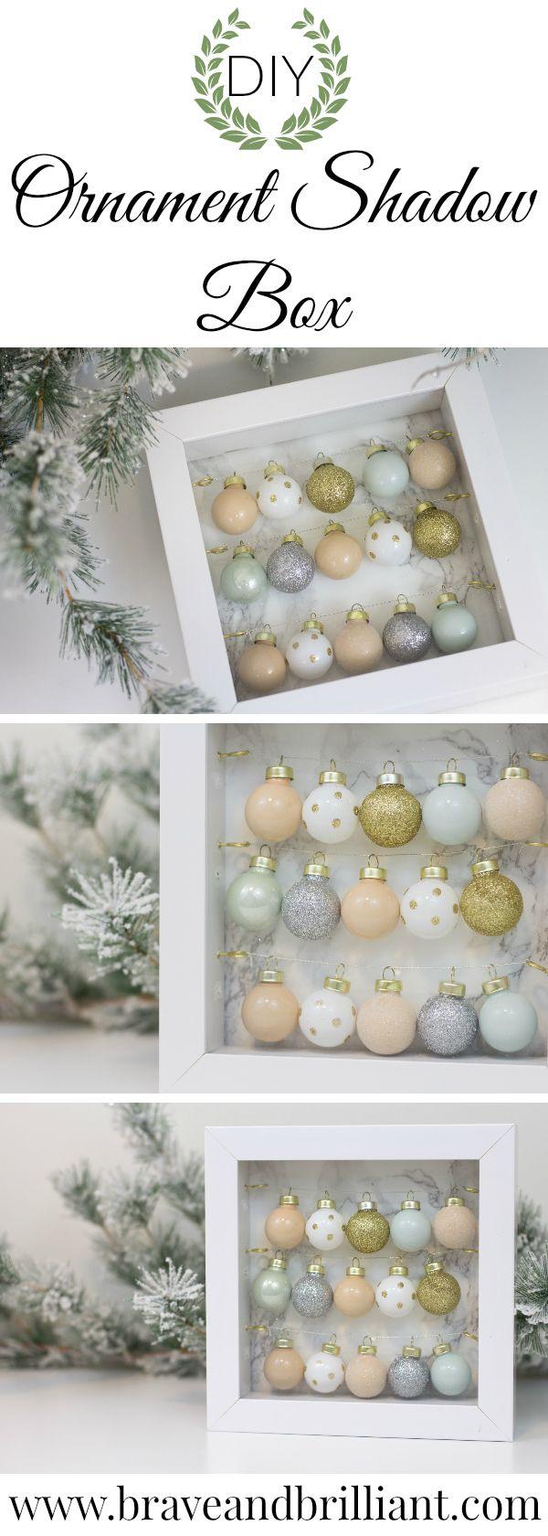 DIY Ornament Shadow Box!
