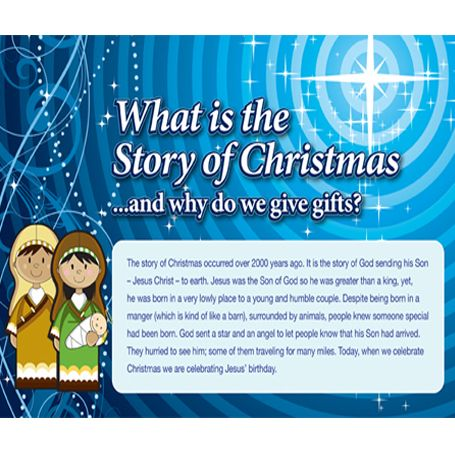 The Story of Christmas- for children connects why we give Christmas gifts to Christ