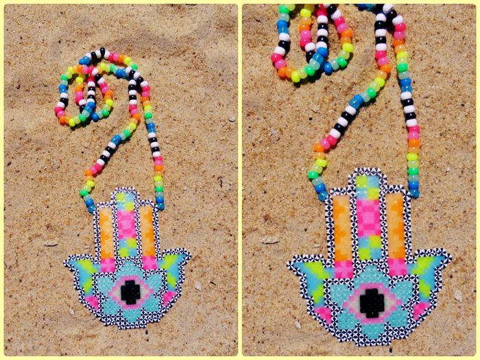 hamsa hand perler by OBXKandiQueen - Kandi Photos on Kandi Patterns