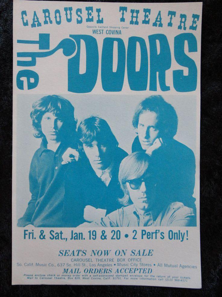 THE DOORS at The Carousel Theatre West Covina, CA 01/19  20 1968 Handbill