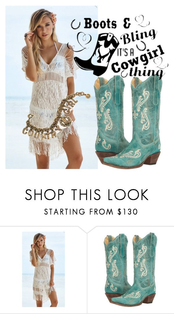 """Cowgirl"" by kmproducts on Polyvore featuring Beach Bunny, Corral and Sweet Romance"