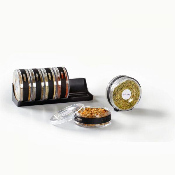 Емкости для специй в подставке Umbra Cylindra Spice Rack. Umbra в интернет-магазине HoMeAdore.ru