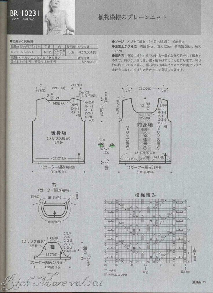 RICH MORE Vol 102----夏装Более четко читается текст на схеме
