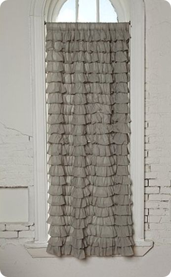 DIY Waterfall Ruffle Curtain