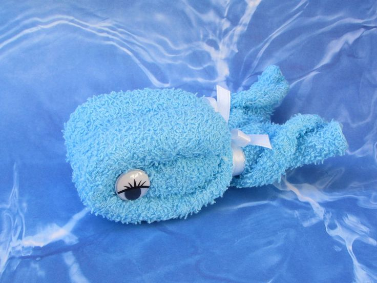 Whale Washcloth Birthday Party Baby Shower Favor Gift #BabyShowerBirthdayPartyThankyou
