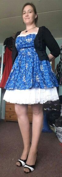 Decided I like this petti with this dress better #hellbunny #pulpsexiness