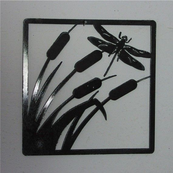 Dragon in the Reeds Metal Art/Wall Hanging by frolicnfriends, $20.00