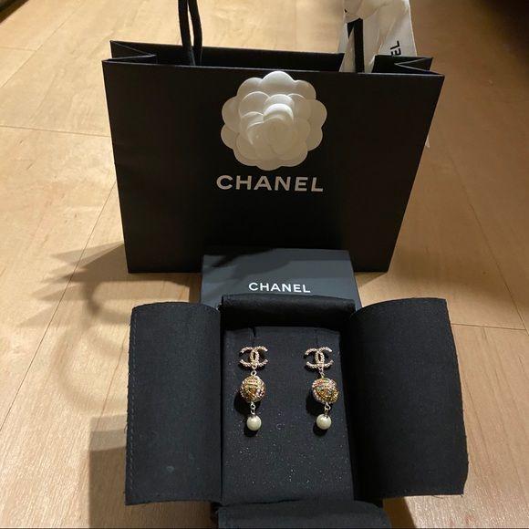 Chanel Vintage Like Multicolor Earrings Vintage Chanel Multicolor Earrings Chanel