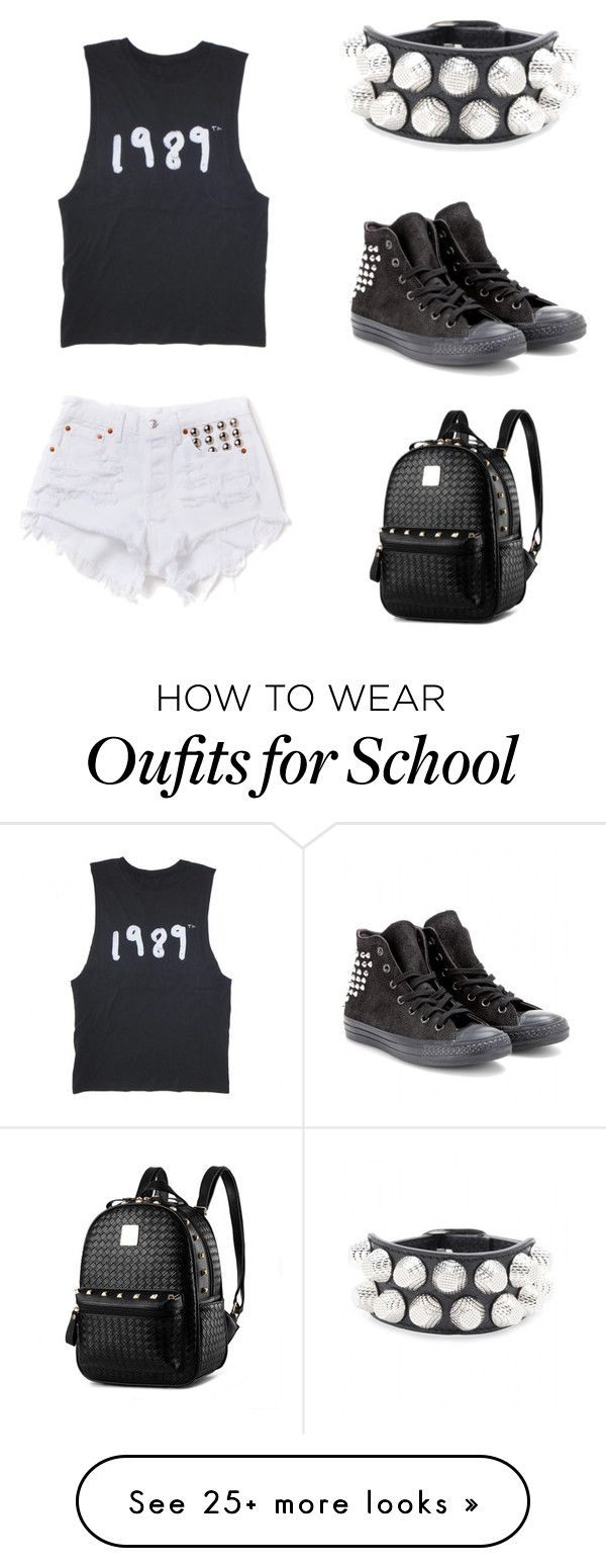 """Friday at school"" by pinkdoggy on Polyvore featuring Converse and Balenciaga"