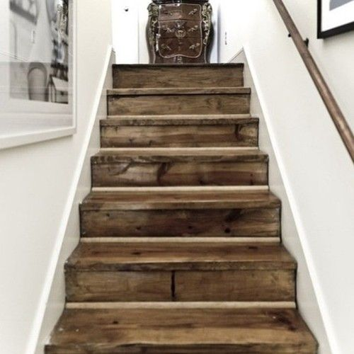 pallet furniture redo basement stairs since i already want