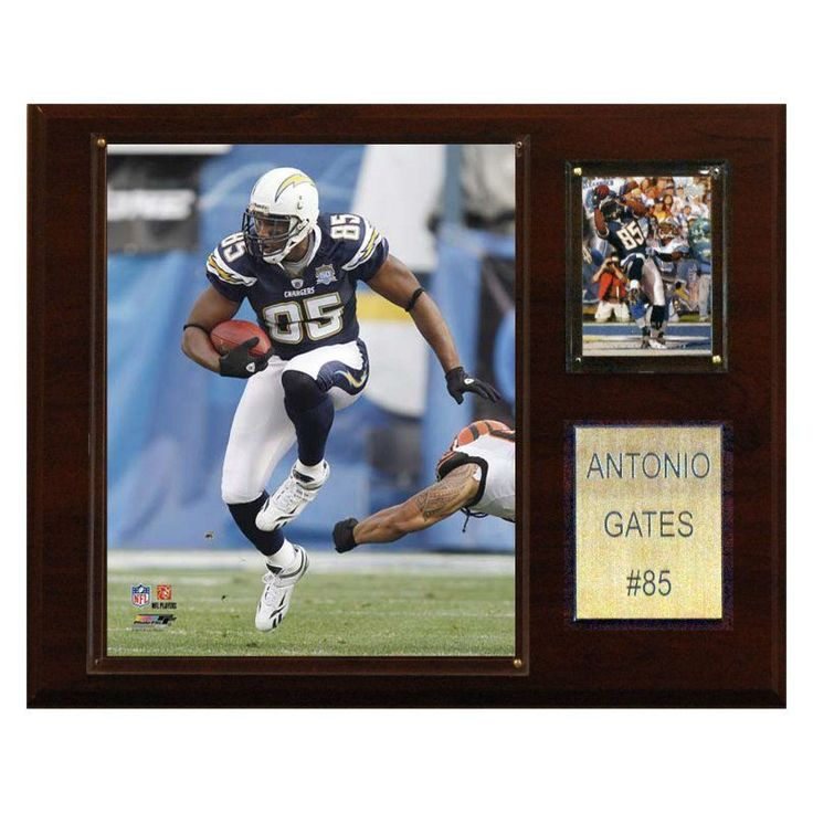 NFL 12 x 15 in. Antonio Gates San Diego Chargers Player Plaque - 1215GATES