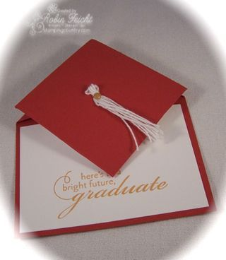 Interactive Graduation Cap Card with a convenient pocket for tucking a graduation gift. www.stampingcountry.com Where Creativity Blooms