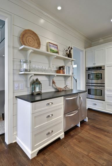 shiplap siding used on interior walls in kitchen, via Houzz