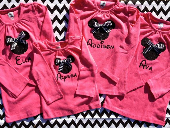Ships in 1 Business Day Personalized Girls Minnie by ohsewpresh, $17.00