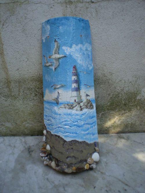 tegola con paesaggio marino