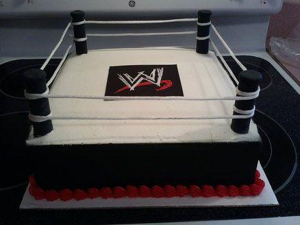 Wrestling Ring Cake https://www.facebook.com/ItsAPieceofCakeWV