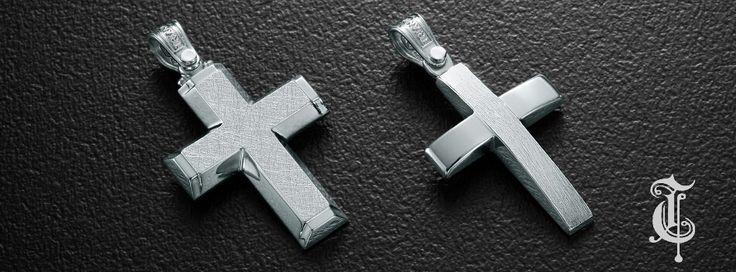 σταυροί βάπτισης, βαπτιστικοί σταυροί Τριάντος, gold crosses jewelry, κωδικοί προϊόντων από αριστερά : 1.2.1110 και 1.2.1116